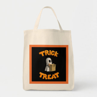 Trick or Treat Ghost - Tote Bags