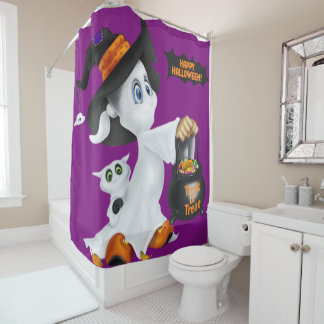Trick or Treat Ghost Shower Curtain