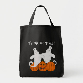Trick or Treat Ghost Tote Grocery Tote Bag