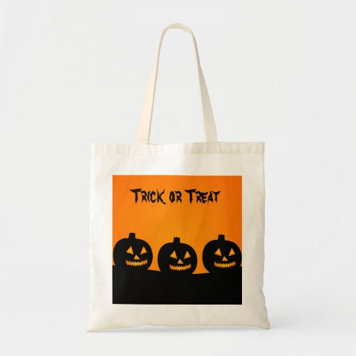 Trick or treat Halloween candy tote Canvas Bags