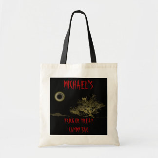 Trick or treat halloween candy tote bags