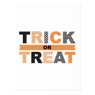 Trick or Treat Halloween Card Postcard
