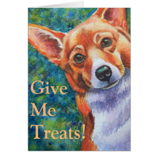 Trick or Treat Halloween Corgi Note Card