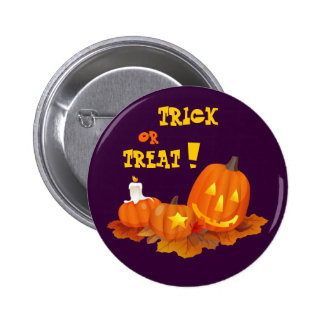 Trick or Treat Halloween Gift Pinback Buttons