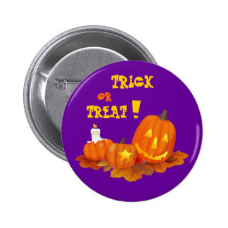 Trick or Treat! Halloween Gift Pinback Buttons