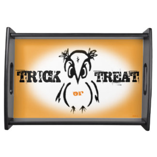 Trick or Treat Halloween Owl Service Tray