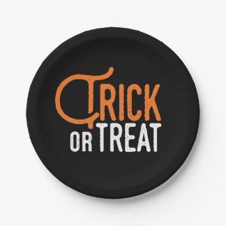 Trick or Treat | Halloween Paper Plates 7 Inch Paper Plate