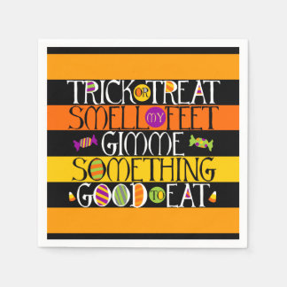 Trick or Treat Halloween Rhyme Disposable Napkins