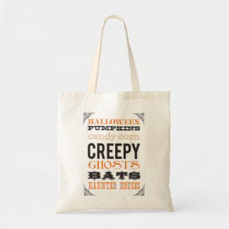 Trick or Treat Halloween tote Budget Tote Bag