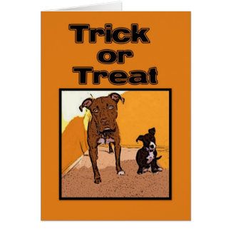 Trick or Treat Happy Halloween Dogs Greeting Card