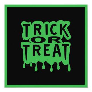 Trick or Treat Personalized Invitation