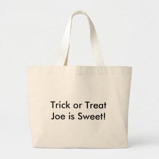 Trick or Treat Joe is Sweet! Large Tote Bag