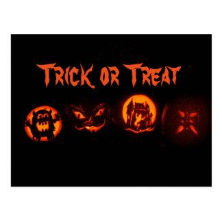 Trick or Treat Pumpkins! Postcard