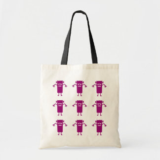 Trick or Treat Purple Frankenstein Canvas Budget Tote Bag