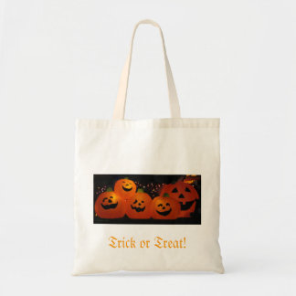 Trick or Treat tote bag with pumpkins