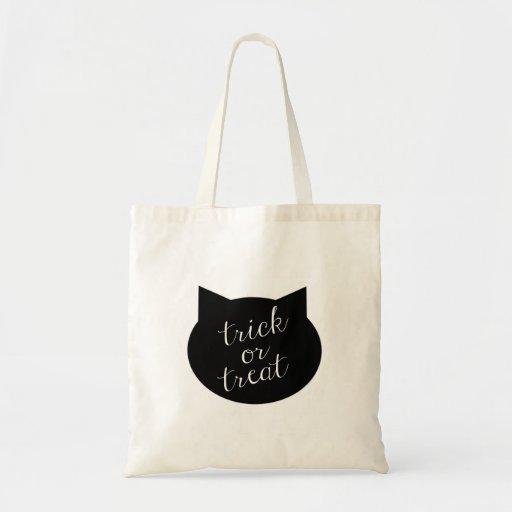 Trick or Treat Tote - Black Cat Bag