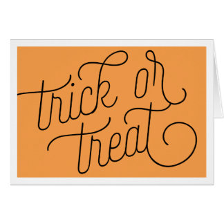 Trick or Treat Typography Halloween Note Card