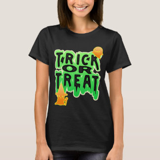 Trick or Treat with and ghost halloween shirt