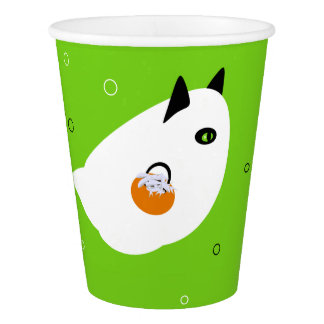 Trick-or-Treating Cat Paper Cup