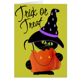 Trick r Treat Halloween Greeting Card