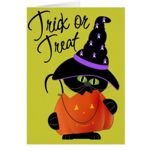 Trick r Treat Halloween Greeting Card