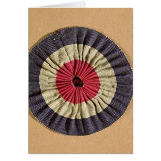 Tricolore rosette greeting card