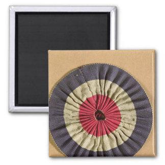 Tricolore rosette refrigerator magnet