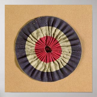 Tricolore rosette poster