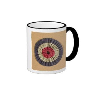 Tricolore rosette ringer mug
