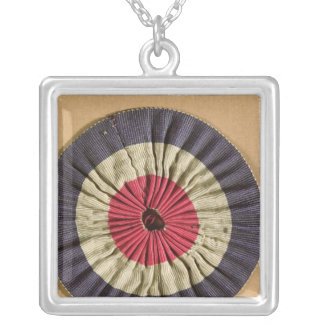 Tricolore rosette silver plated necklace