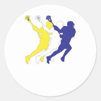 TricolorYWB.ai Round Sticker
