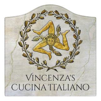 Trinacria Cucina Italiano Kitchen Sign Door Sign