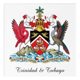 Trinidad and Tobago Coat Of Arms Acrylic Wall Art
