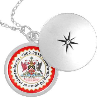 Trinidad & Tobago 50th Anniversary Silver Plated Necklace