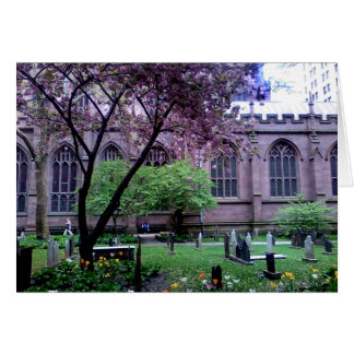 Trinity Church, Broadway, NYC April 2011 Card