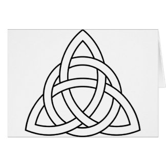 trinity knot celtic saxon viking norse nordic card