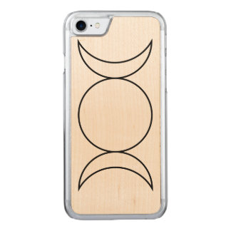 Trinity Moon Phase Carved iPhone 8/7 Case