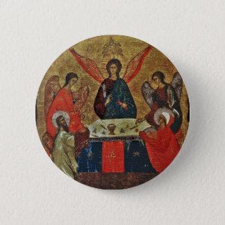 Trinity with the Saints 6 Cm Round Badge