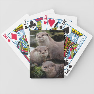 Trio of Otters Bicycle Playing Cards