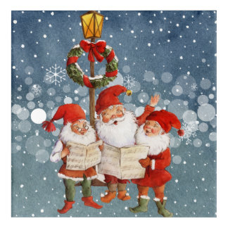 Trio of Singing Elves Acrylic Wall Art