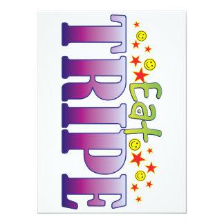Tripe Eat 14 Cm X 19 Cm Invitation Card