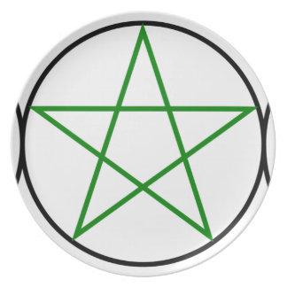 Triple-Goddess-Pentagram Plates