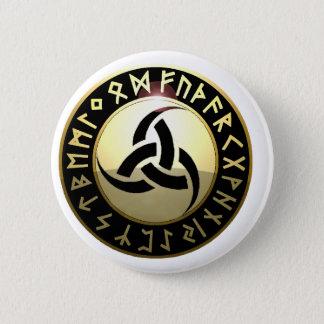 Triple Horn of Odin 6 Cm Round Badge