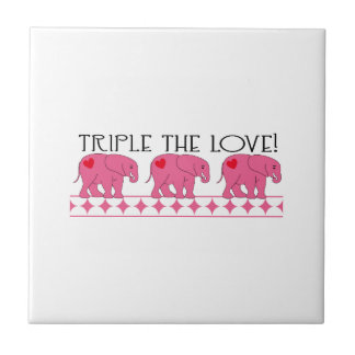 Triple The Love! Small Square Tile