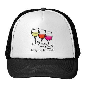Triple Threat Wine Glasses Cap