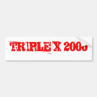 TRIPLE X 2000 CAR BUMPER STICKER