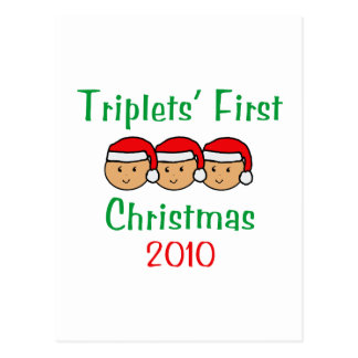 Triplets First Christmas Postcard