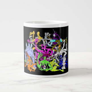 Tripped Out Characters from the Twisted Realm Large Coffee Mug