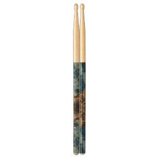Trippy Blue Eye Abstract Drum Sticks
