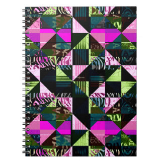 Trippy Florescent Pink Diva Notebooks